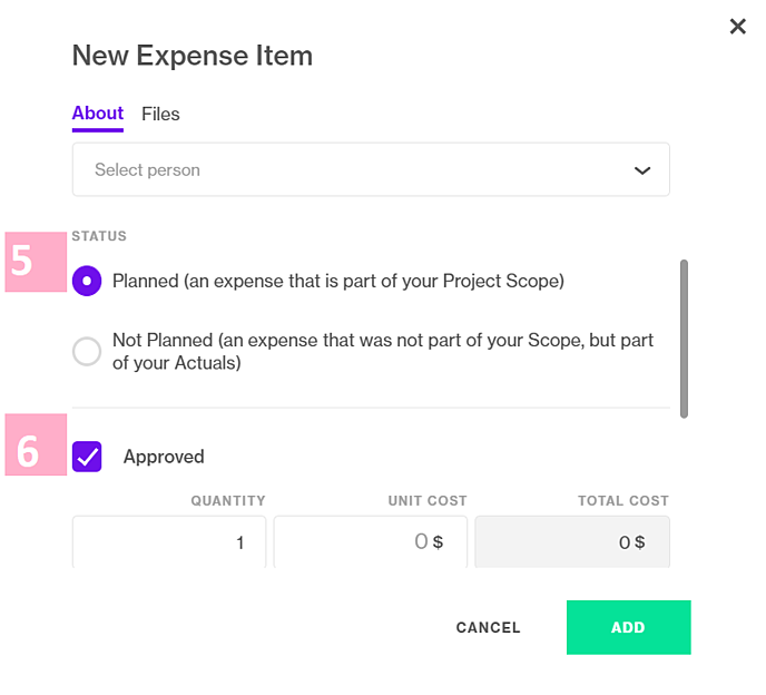 New expense modal two-1