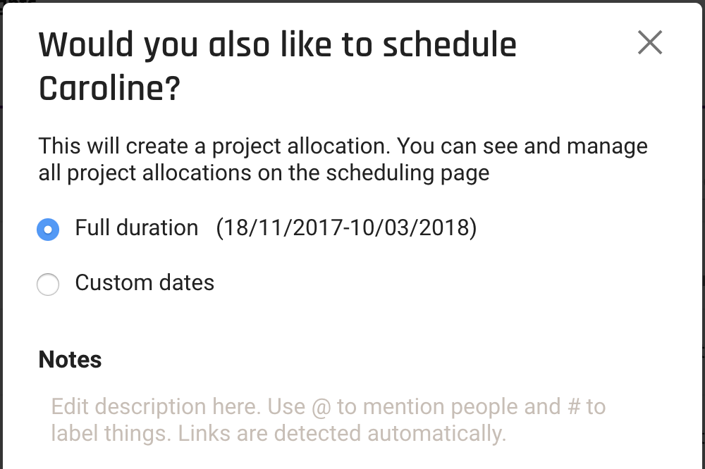forecast_projectteam-schedule person
